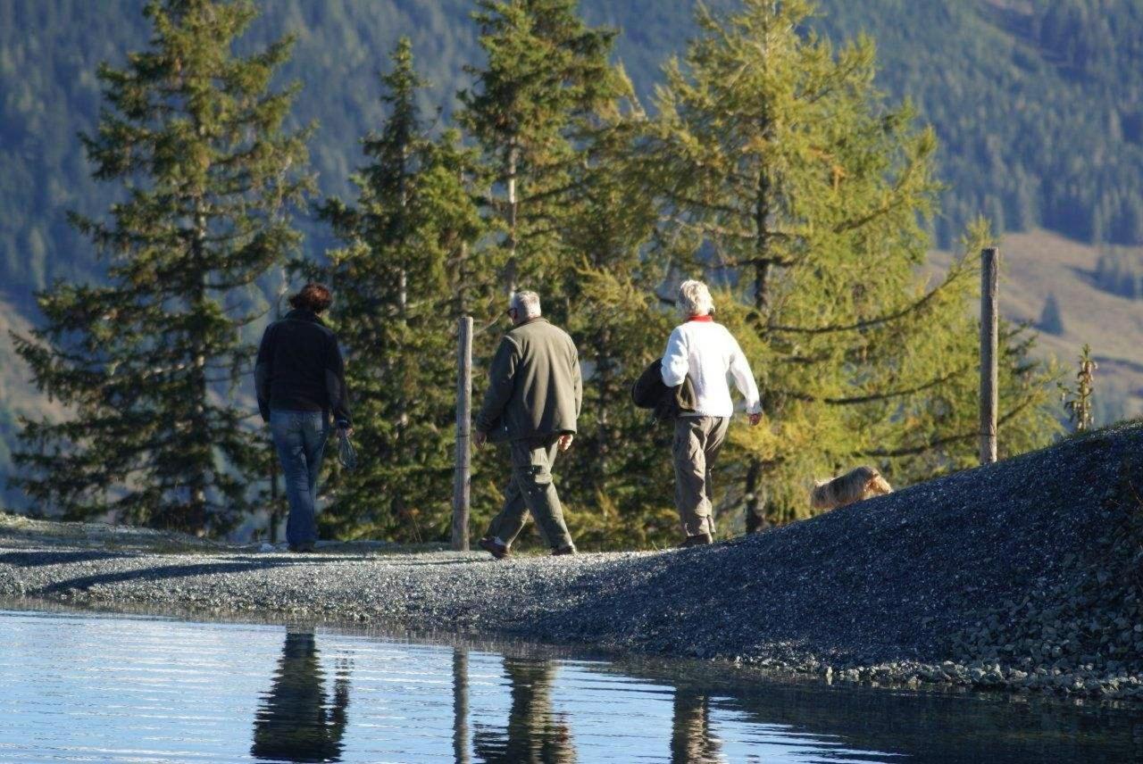 Personen in der Natur am spazieren